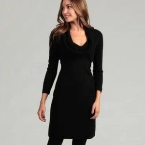 Connected Apparel Black Cowl Neck Sweater Dress L
